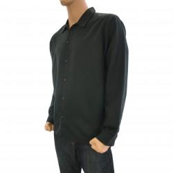 Chemise coton / lin noire