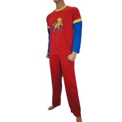 Pyjama Lois Fuertes Pectorales - ref : 52069 ROJO