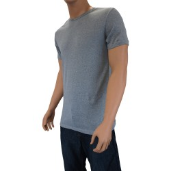 T-shirt RL gris chiné - ref :  60442 025