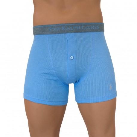 Henley LaurenVente Boxer Shorty Ralph Boxers Bleu Boutons Polo N0XnwPOk8Z