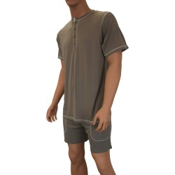 T-shirt Lounge  Bambou kaki - ref :  6881 360