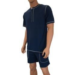 T-shirt Lounge Bambou marine - ref :  6881 004