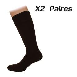 Lot de 2 paires de chaussettes Agenda marrons - ref :  AGENDA MARRON