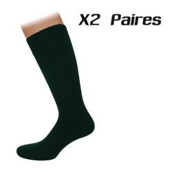 Lot de 2 paires de chaussettes Agenda vertes - ref :  AGENDA V BOTELL