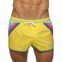 Short de bain Stripes jaune - ref :  ADS072 C03