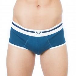 Slip bleu, bordures blanches - ref :  BR-ANWX