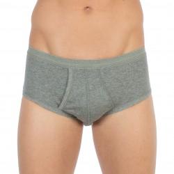 Slip 108 taille haute gris chiné, ouvert, pur coton hypoallergénique - ref :  0108 6600