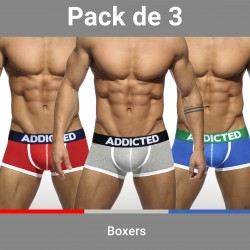 Lot de 3 boxers ADDICTED