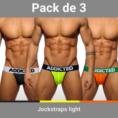 Lot de 3 Jockstraps Light - ref :  AD404P