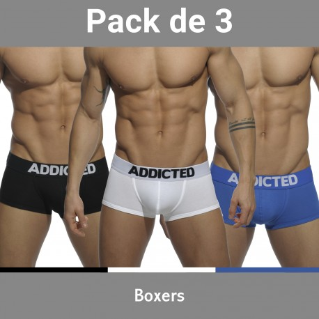 Lot de 3 Basic boxer - ADDICTED AD421P