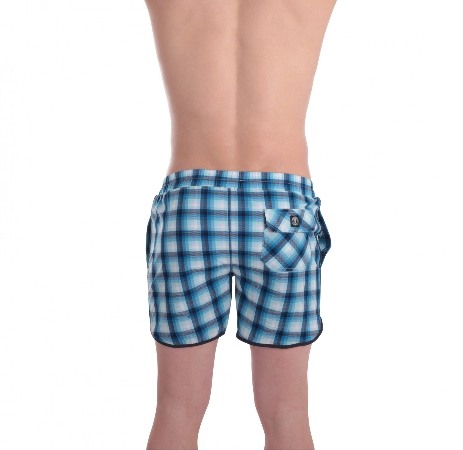 Board short carreaux bleus l 39 homme invisible vente for Short a carreaux homme