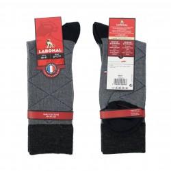 Chaussette laine Intersia gris - LABONAL 38947-3200