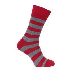 Chaussette rayée rouge - LABONAL 34450 9170