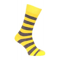 Chaussette rayée jaune - LABONAL 34450 6350
