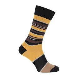 Chaussette rayée noir & jaune - LABONAL 34448-8610
