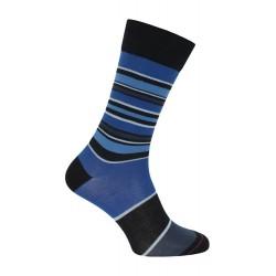 Chaussette rayée noir & bleu - LABONAL 34448-8113