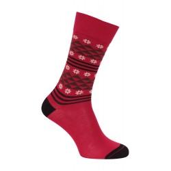 Chaussette flocons rouge cardinal - LABONAL 34439-9100