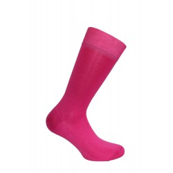 Mi-chaussettes unies, semelle double fushia - LABONAL 11110 9600