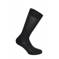 Mi-chaussettes, fil d'écosse, unies, semelle double anthracite