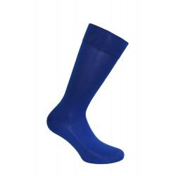 Mi-chaussettes, fil d'écosse, unies, semelle double bleue