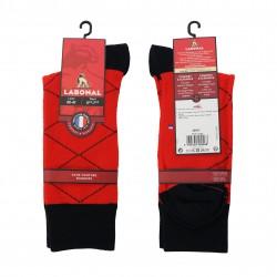 Chaussette laine Intersia rouge - LABONAL 38947-9200