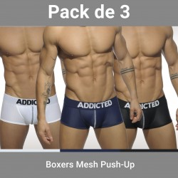 Lot de 3 Boxer Push up - ADDICTED AD477P C3COL