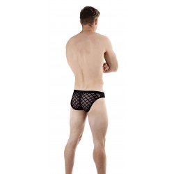 Nightcall - Slip Sexy Back Noir - L'HOMME INVISIBLE MY88-CAL-001