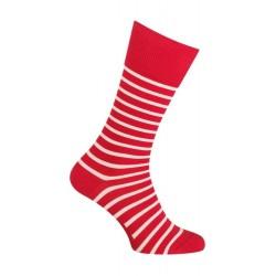 Chaussettes Coton rayées rouge - LABONAL 34576 9020
