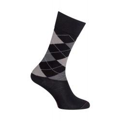 Chaussettes Coton Intarsia noir - LABONAL 34604 8000