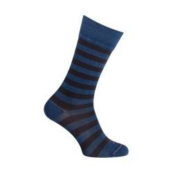 Chaussettes rayées bleu indingo brut - LABONAL 34601 1000