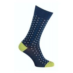 Socks - Denigrating effect cotton peas - Indigo blue / green