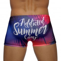 Boxer de bain Summer Camp Digital navy - ADDICTED ADS129 C09