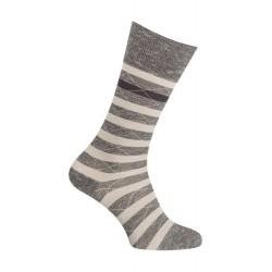 Chaussettes - Moulinée rayures coton - noir - LABONAL 34613 8000