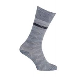 Chaussettes - Moulinée rayures coton - marine - LABONAL 34613 1000