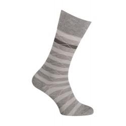 Chaussettes - Moulinée rayures coton - gris - LABONAL 34613 3000