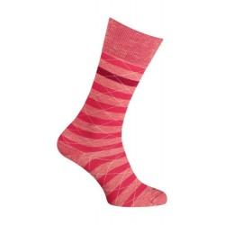 Chaussettes - Moulinée rayures coton - rouge - LABONAL 34613 9000