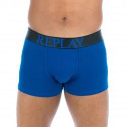 Boxer coton stretch bleu - REPLAY M202204 E01