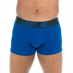 Boxer coton stretch bleu - REPLAY M202204 E01