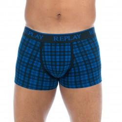 Boxer écossais coton stretch bleu - REPLAY M202205 E01
