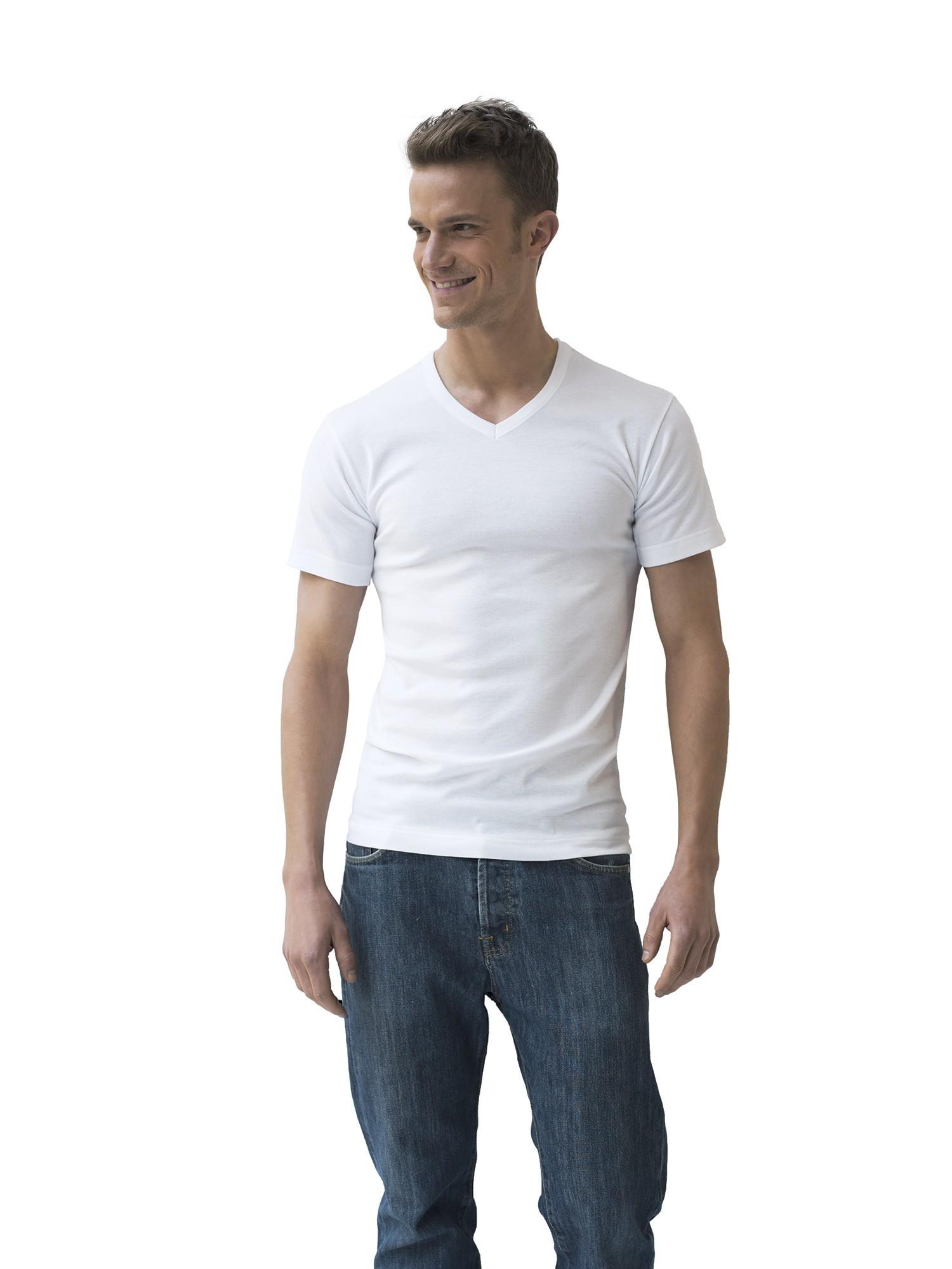 lot de 2 t shirts blancs coton bio hypoallerg nique col. Black Bedroom Furniture Sets. Home Design Ideas