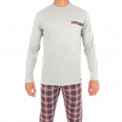 Pyjama écossais gris - IMPETUS 4564E10 507