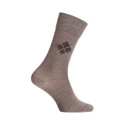 MI-CHAUSSETTES Losange placé laine - Sans couture - Gris - LABONAL 38974 3200