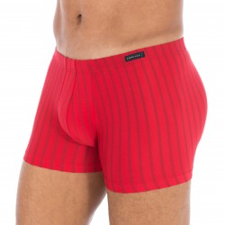 Boxer polyamide stretch rouge