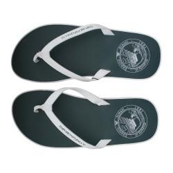 acheter des accessoires de bain pour homme Emporio Armani - Tongues Flip Flop croisière bronze - accessoires bain