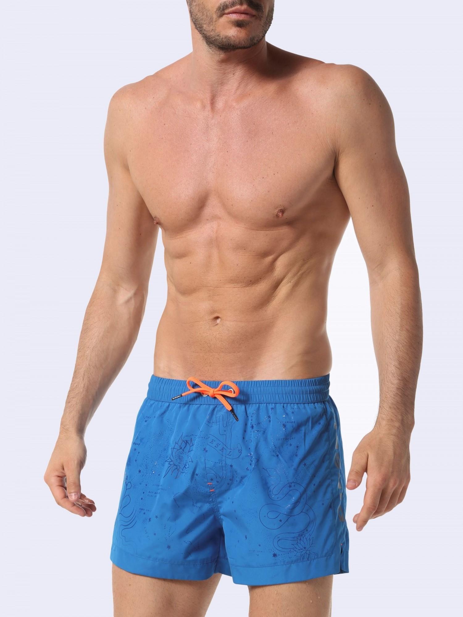 287f0a2290708 BMBX-SANDY-S 2.017 - Blue pattern swim shorts - DIESEL : sale of Ba...