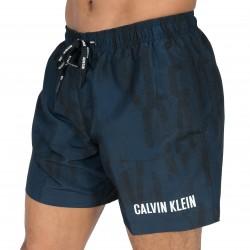 Short de bain Ck logo imprimé blue shadow - CALVIN KLEIN KM0KM00148 483