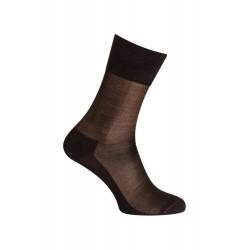 MI-CHAUSSETTES Unie soie - Sans couture - Noir - LABONAL 39019 8000