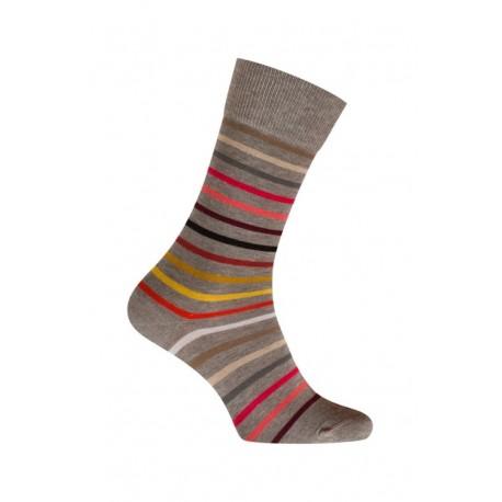 mi chaussettes rayures multicolores coton sans couture gris l. Black Bedroom Furniture Sets. Home Design Ideas