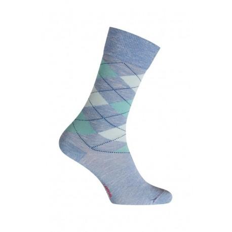 mi chaussettes intarsia effet moulin coton sans couture bleu. Black Bedroom Furniture Sets. Home Design Ideas