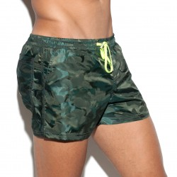 Short de bain Camo Eliot kaki - ES COLLECTION 1833 C12